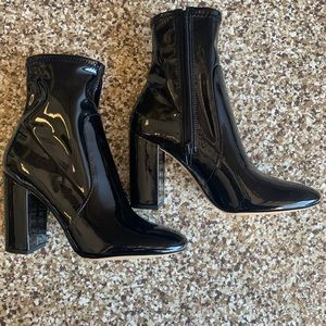 Aldo Patent Leather Booties